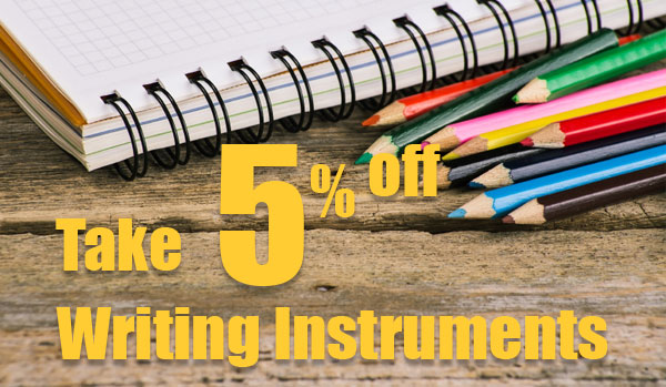 5% Off Writing Supplies