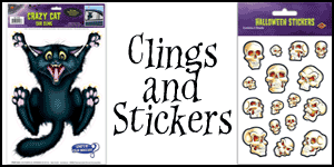Wholesale Halloween Clings and Stickers