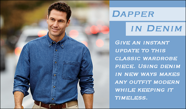 Dapper in Denim Men- Update this classic wardrobe piece with new ways of wearing denim.