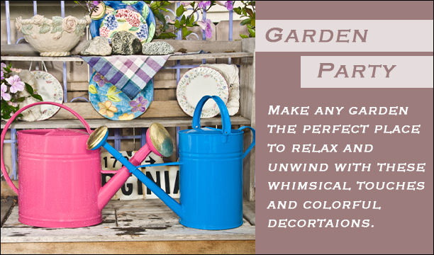 Garden Party- colorful decorations make any lawn or garden fun.