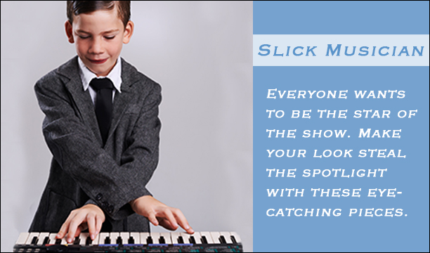 Slick Musician for Boys- All the gear you need to look good while making music.