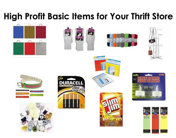 Thousands of high profit basics for thrift stores