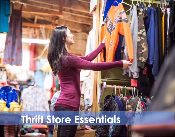 Thousands of individual items for your thrift store