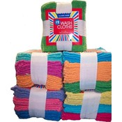 12 Pack Bright Colored Wash Cloths
