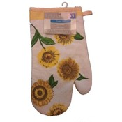 Printed Oven Mitt- Sunflower