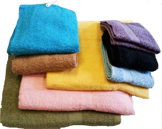 Terry Cloth BATH TOWEL Set - Assorted Colors [1797963]