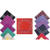 Bandannas Printed Assorted Colors
