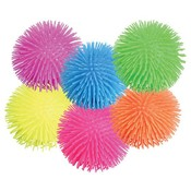 "5"" Light Up Puffer Ball Assorted Colors In Display"