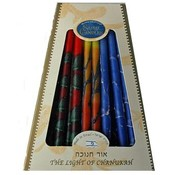 Tr-Color MultiColor Premium Chanukah Candles