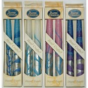 "Wholesale 7.5"" Taper Candles - 2-Packs - ""Silver S"