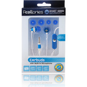 3.5mm Universal Earbud Headsets - Blue