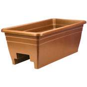 "Planter 24"" Deck Rail Bx Clay"