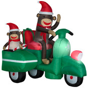 Sock Monkeys In Scooter Scene