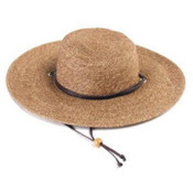 Principle Plastics Hat Women's Braided Wide Dark Brown Wholesale Bulk