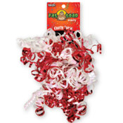 Curled Ribbon Bow Red / White Wholesale Bulk