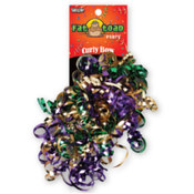 Curled Ribbon Bow Mardi Gras Wholesale Bulk