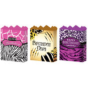 Gift Bag- Medium Birthday Safari- 3 Styles Wholesale Bulk
