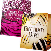 Gift Bag- Large Birthday Safari- 3 Styles Wholesale Bulk