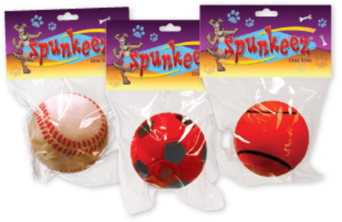 Spunkeez Rubber Ball Dog TOYS (1266065)