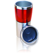 Stainless Steel Travel Mug-Red