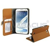 Brown Leather Folio Wallet & Case for Samsung Galaxy Note II