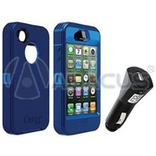 Otterbox Defender Case w/Car Charger for iPhone 4S -O/N Blue