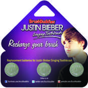 Justin Bieber Singing Toothbrush (Replacement Batteries)