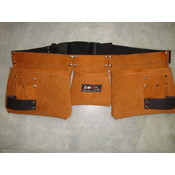 9 Pocket Suede Leather Tool Pouch Bag Belt / Tool Apron