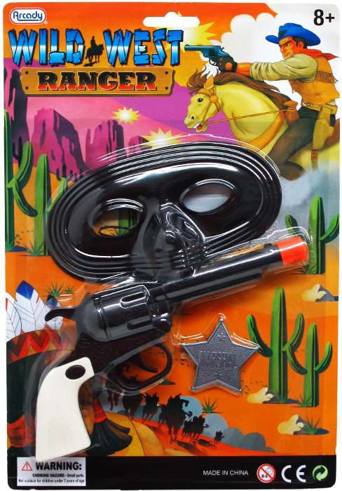 ''7.5'''' Clicking Action Toy Gun With 5.5'''' Mask [2272640]''