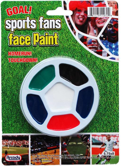 6-Color Sports Fan Face Paint Play Set [2275947]