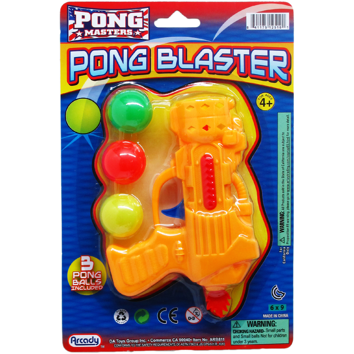 ''5.5'''' Assorted Color PING PONG Toy Gun Play Set [2324944]''
