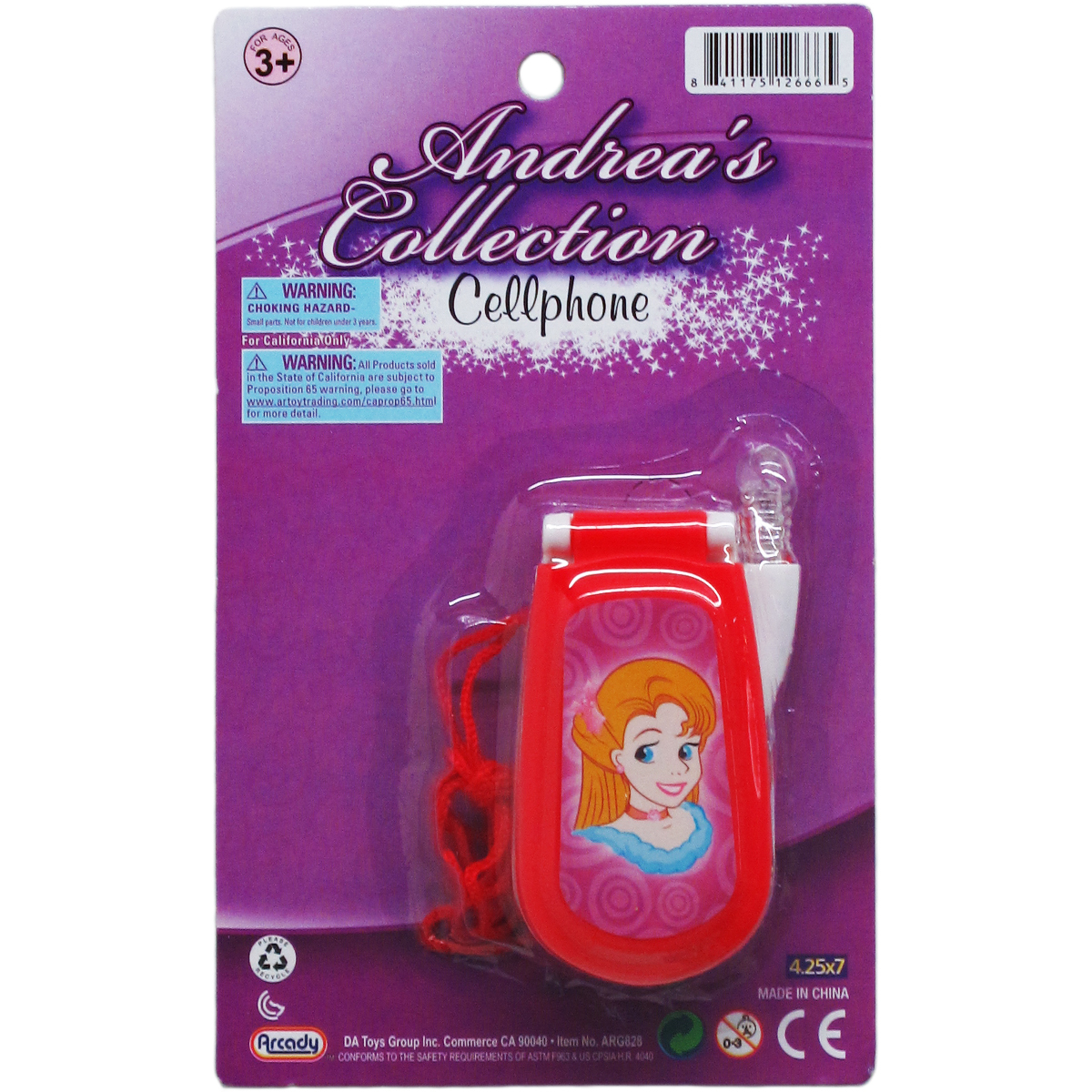 ''3.25'''' Assorted Style Battery Operated Cellphone [2330916]''