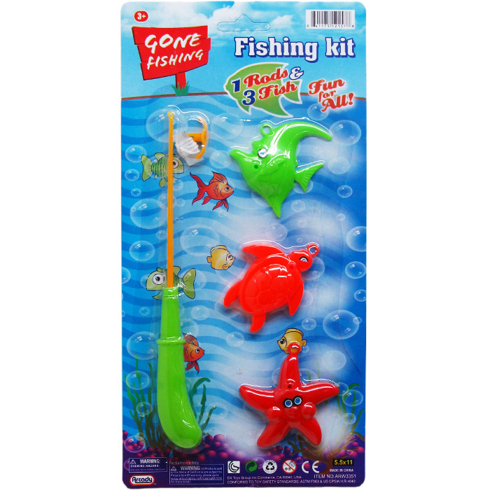 ''3-Piece Assorted Color FISHING Set With 7.5'''' Rod [2322373]''