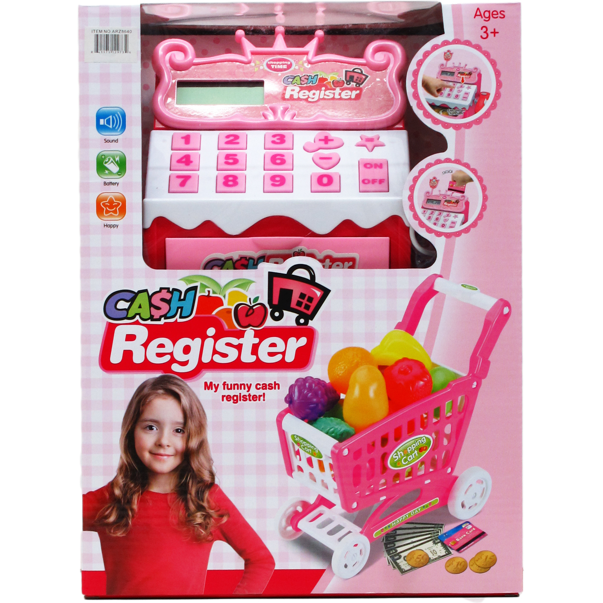 Battery Operated Digital Cash Register with Cart [2340955]