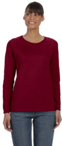 Gildan Heavy Cotton? Ladies' 5.3 oz. Missy Fit Long-Sleeve T-Shirt | GARNET - S [2120414]