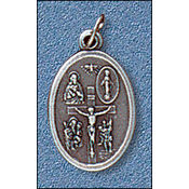 Four Way / I am Catholic Medal