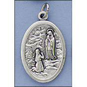 Our Lady Of Lourdes Ox Medal