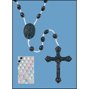 "17"" Molded Cord Rosary - Black"