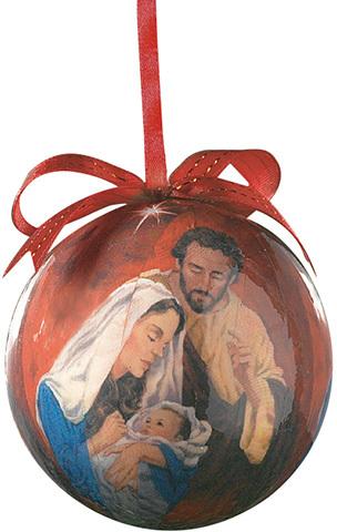 Tidings of Great Joy Decoupage Ornament [166355]