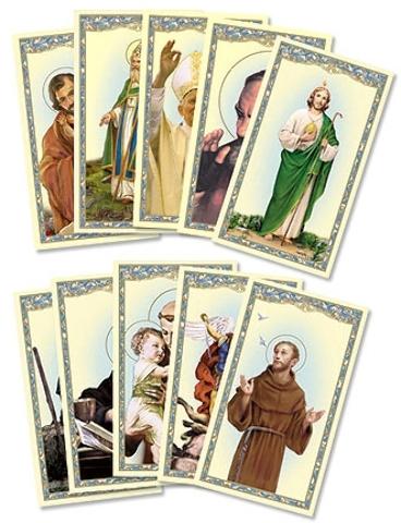 Men SAINTS Holy Card Assortment [2003225]