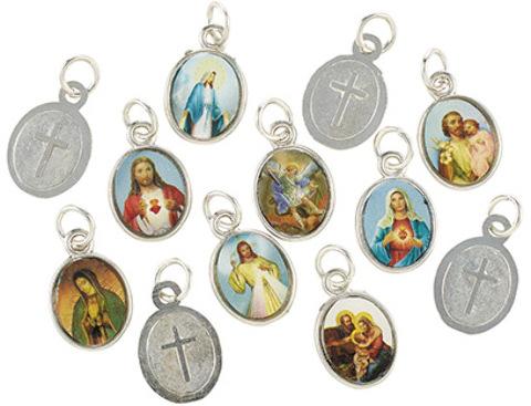 Mini Devotional SAINTS Medal Assortment (12 Assorted) - 144/pk [2003161]