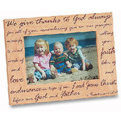 We Give Thanks to God Always Photo Frame
