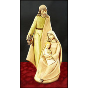 Rustic Woodtone Holy Family Figurine Wholesale Bulk
