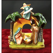 Nativity with Angel Stand Wholesale Bulk