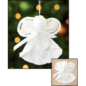 Battenburg Lace Angel Ornament