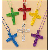 Crystal-Cut Cross Necklace Assortment
