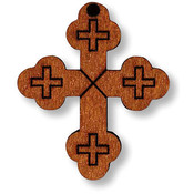 Wood Budded Cross