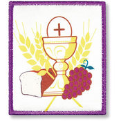 Chalice and Grapes Iron-on Applique