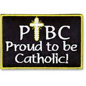 Proud to be Catholic Iron-on Applique