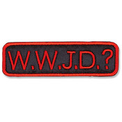 WWJD? Iron-on Applique